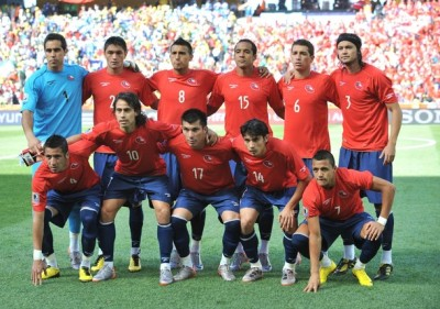 Chile national football team poses durin